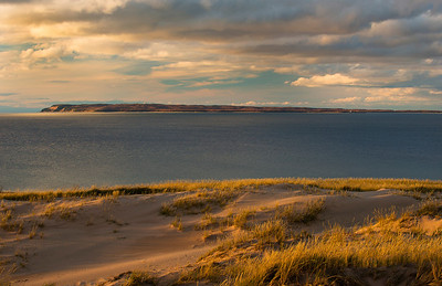 Sleeping Bear Dunes Overlooking Manitou Island