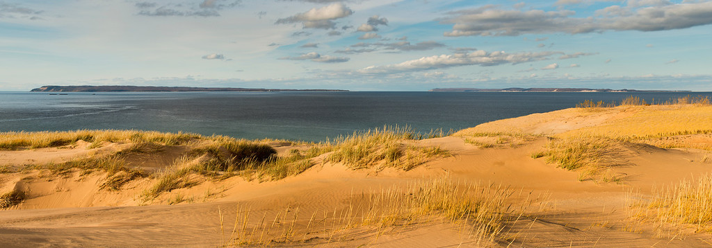 Sleeping Bear Dune and Manitou Panorama 20 x 60